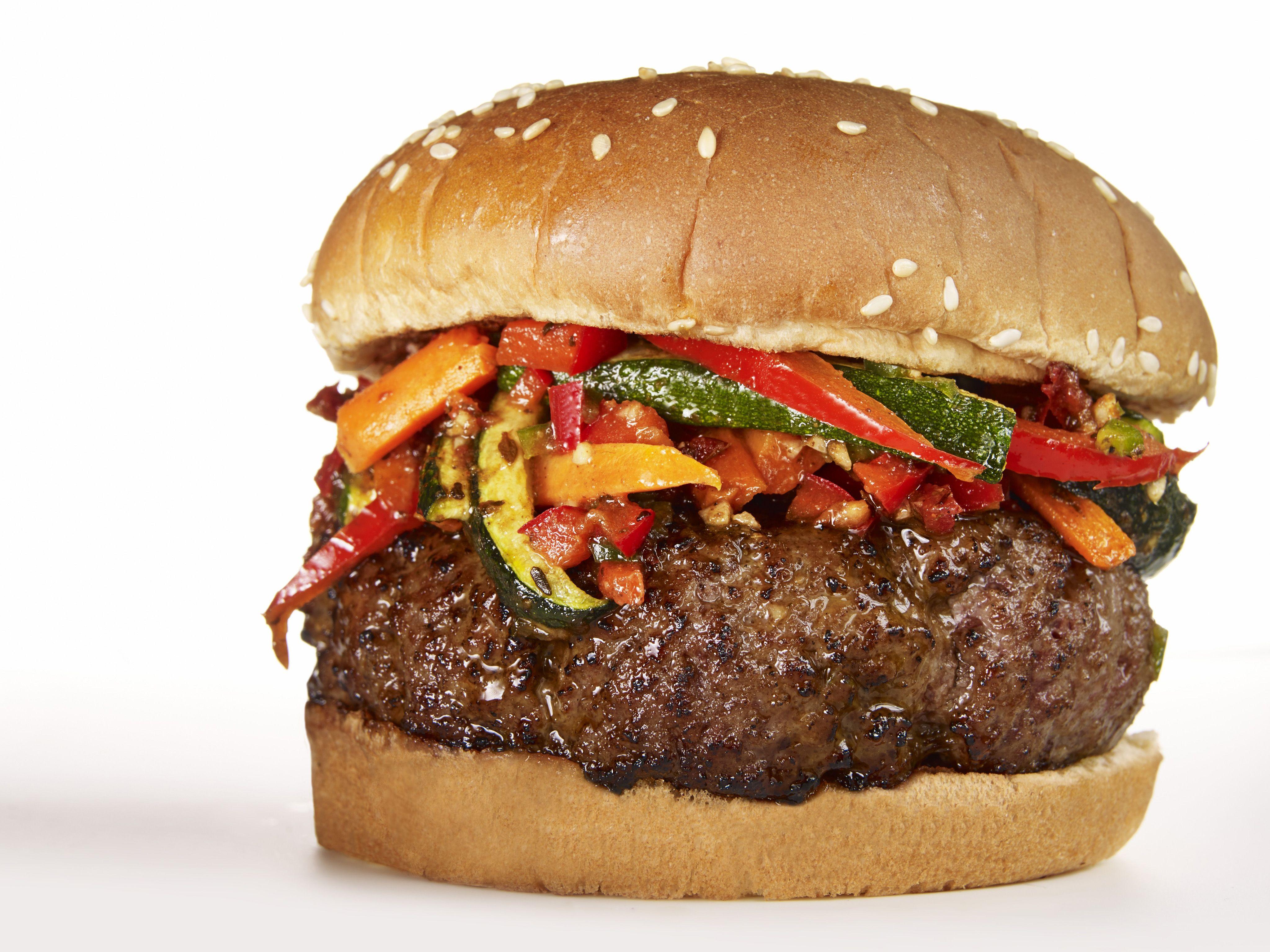 Caribbean Burger Recipe Food Network Recipes Food Caribbean