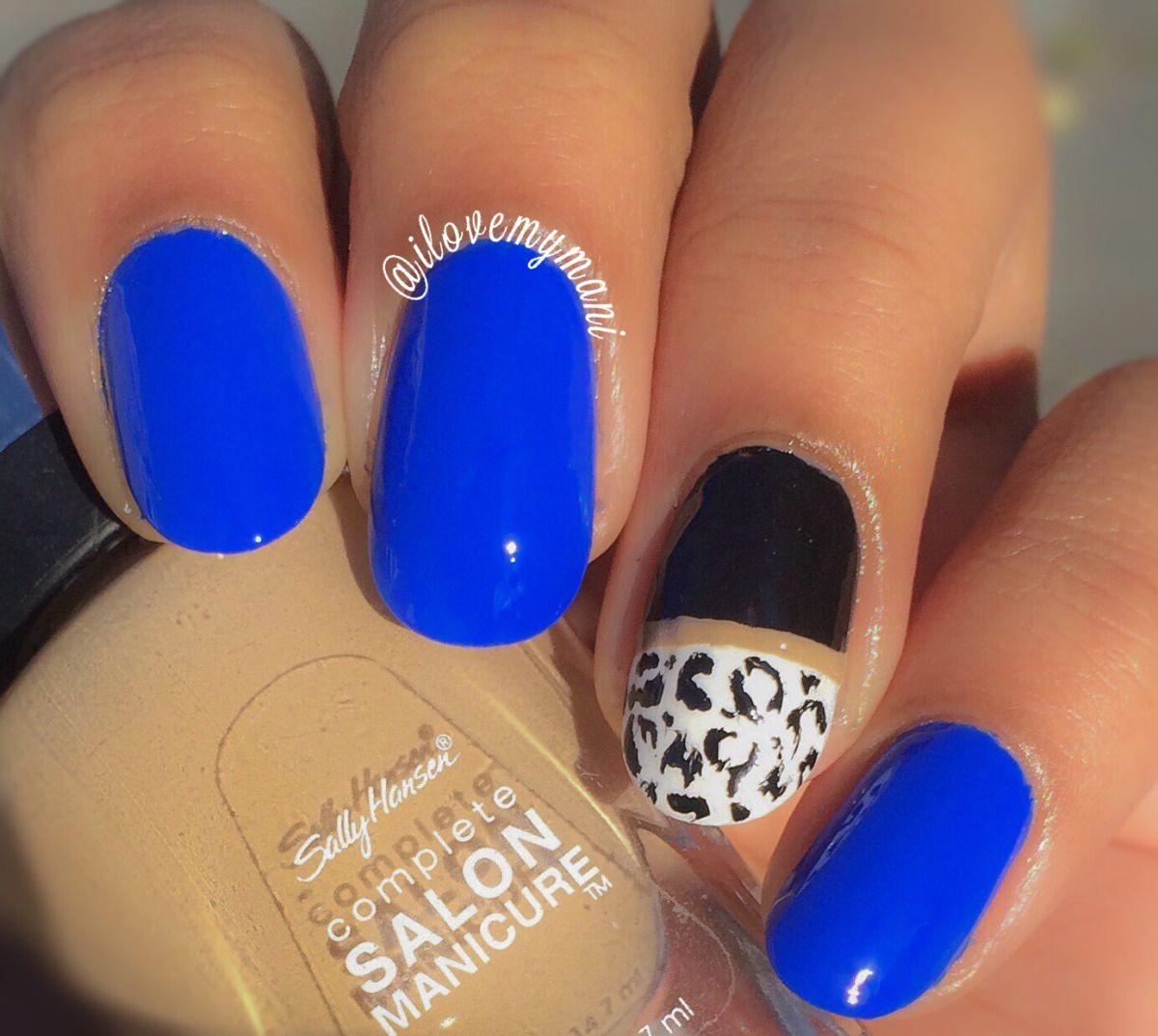 Absolutely loving Sinful Colors Endless Blue! Such a beautiful cobalt blue color with easy application. For just under $2, the affordability is amazing! For my thumb and ring finger I used Sally Ha...  #nails #nailpolish #manicure #beauty #beautiful #chic #sophisticated #lifestyle #trendy #sallyhansen #thanksgiving #girlythings