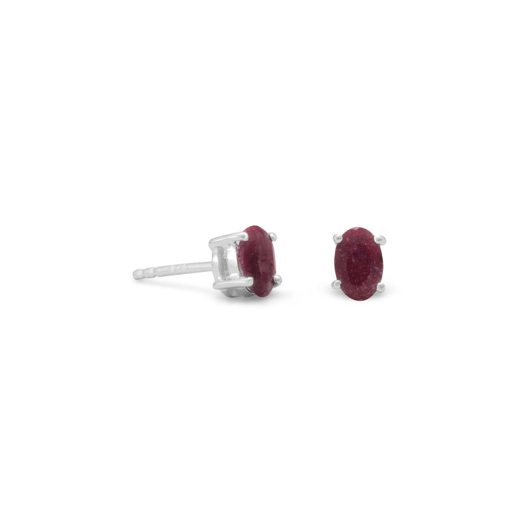 natural ruby gold itm ct stud plated in earrings silver sterling