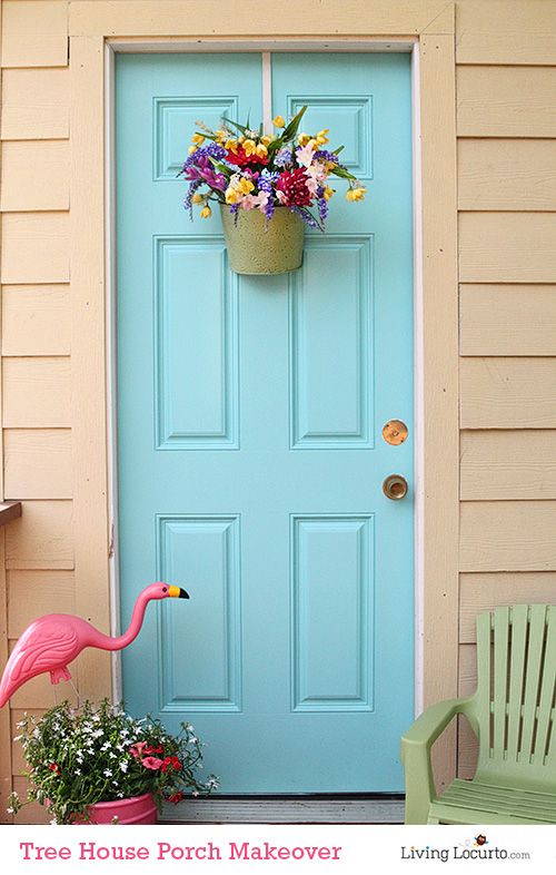 Tree House Porch Makeover How To Paint An Exterior Door In A Few