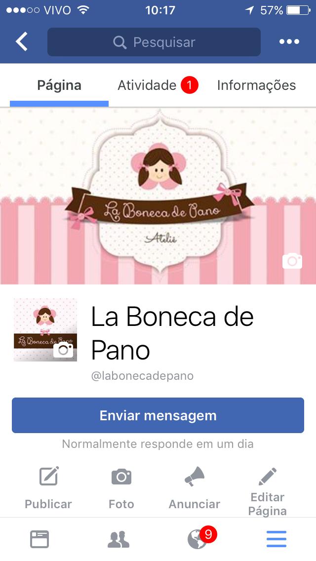 Acesse nossa página do Facebook! La boneca de pano | Boneca de Pano
