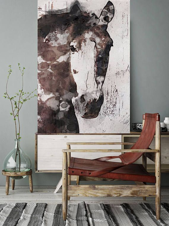 Gorgeous Horse Extra Large Unique Wall Decor Brown Rustic Contemporary Canvas Art Print Up To 72 By Irena Orlov