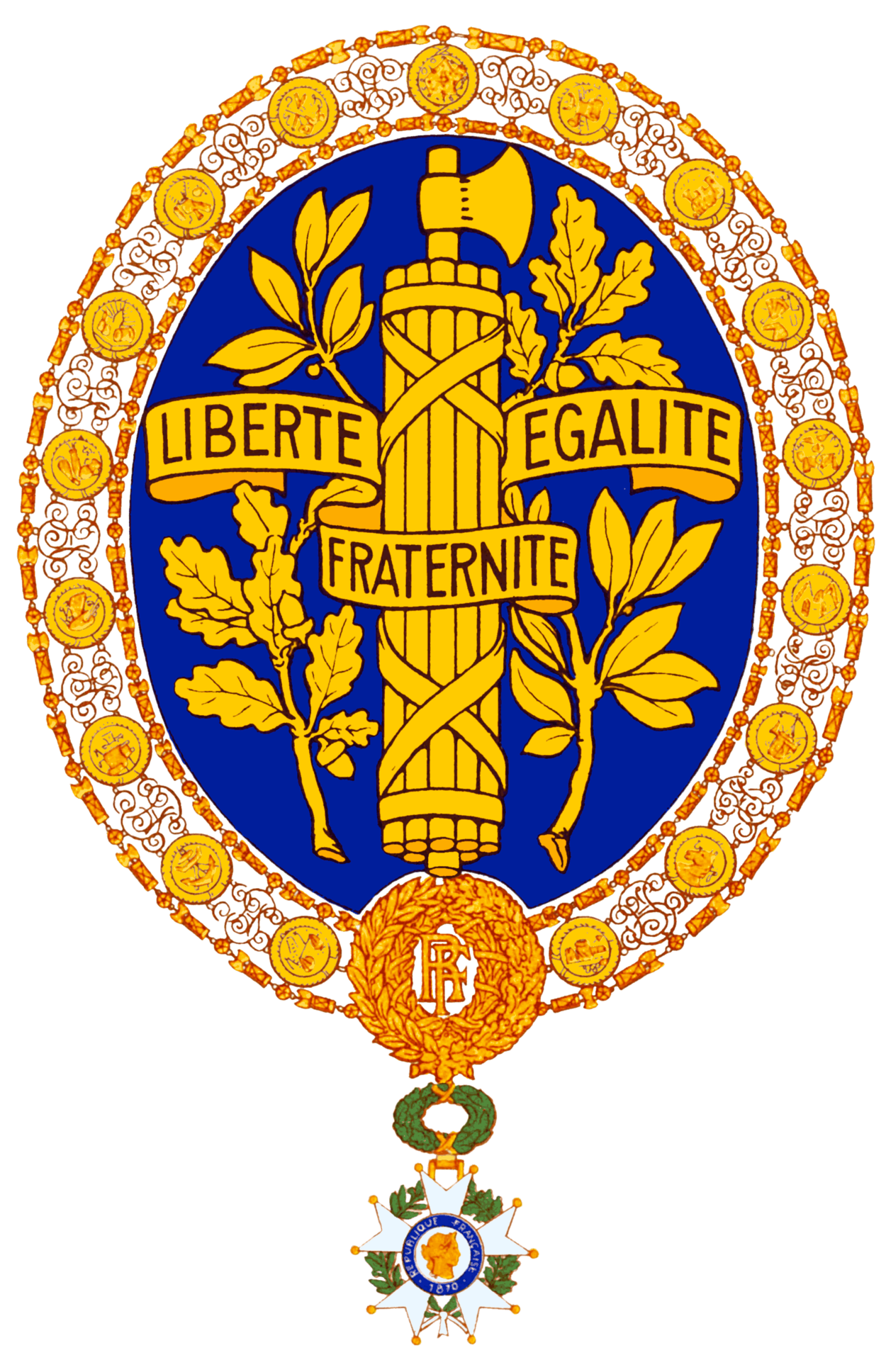 National Emblem Of France Wikipedia Coat Of Arms And Flags