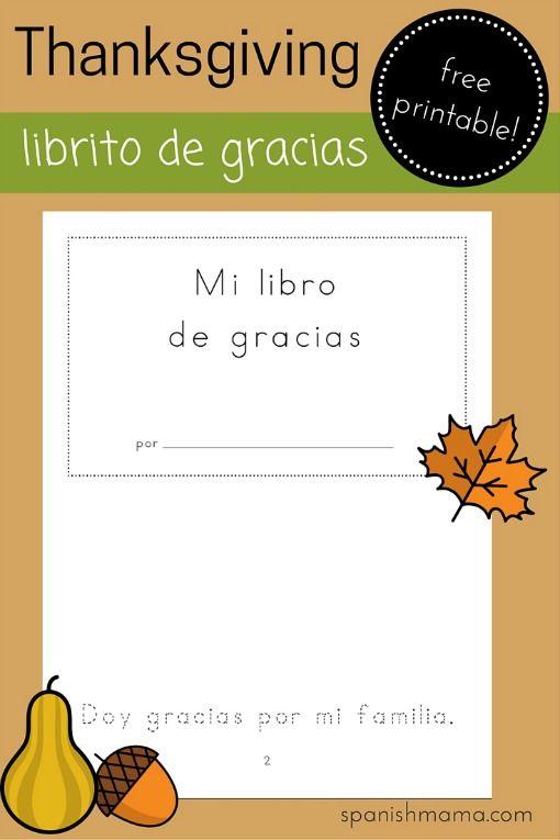 Printable Thanksgiving Mini-book