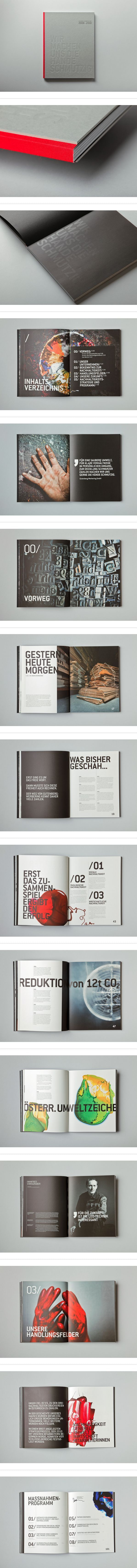 SUSTAINABILITY REPORT by Julian Weidenthaler #editoriallayout