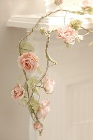 DIY..paper garland...very delicate....very pretty..
