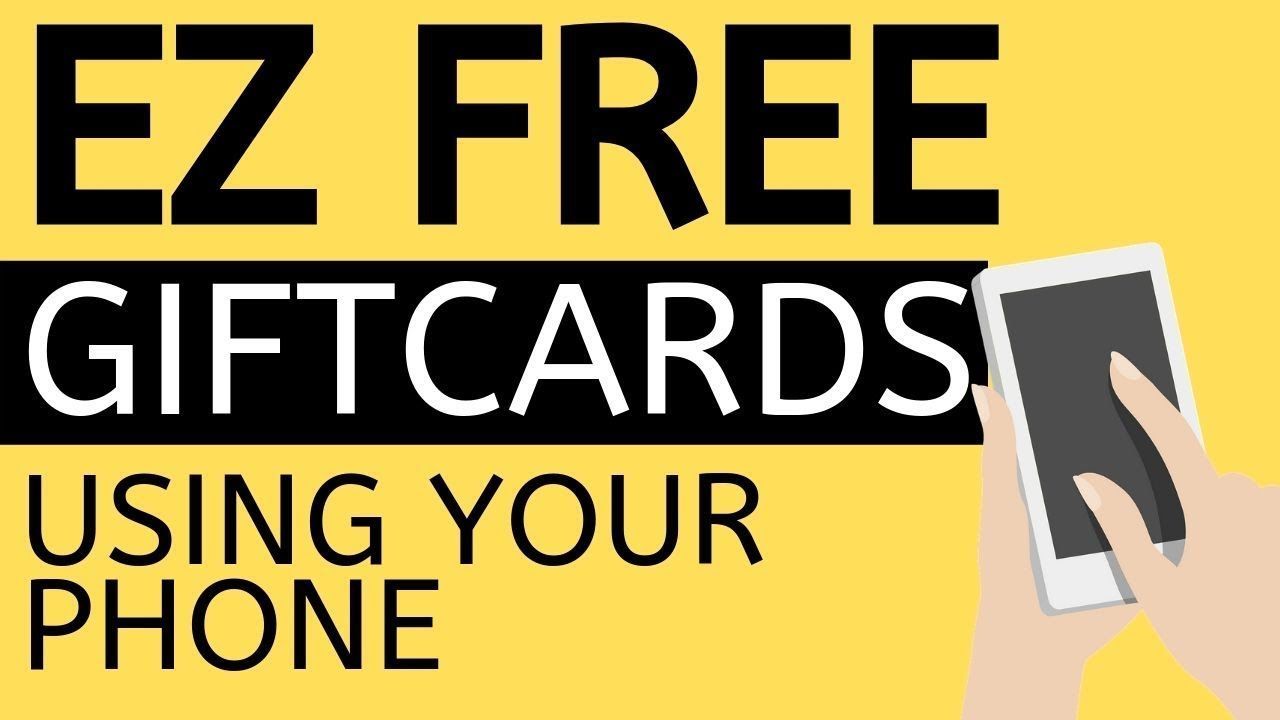 Easily earn free gift cards from your phone free gift