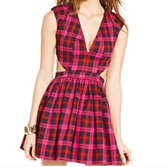 ⚡️SALE⚡️ NWOT PLAID CUTOUT SKATER DRESS NASTYGAL Fit and flare! Super cute cutouts! Never worn! Brand: mustard seed bought from nasty gal! Listed for $40 plus on here by other sellers! ASOS Dresses Mini