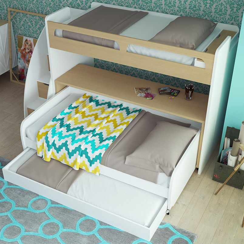 Bel Mondo Twin Bunk Bed With Trundle Products Pinterest Products