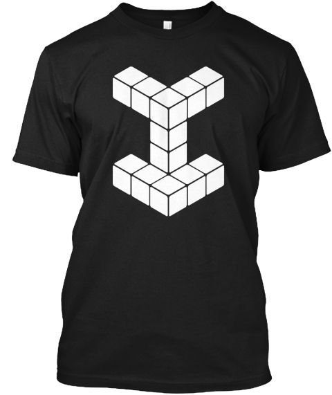 New Puzzle Game T Shirts Black T-Shirt Front