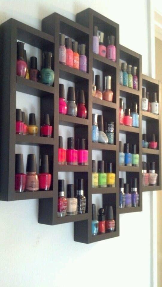 pared1 | Repisas, Esmalte y Esmalte uñas
