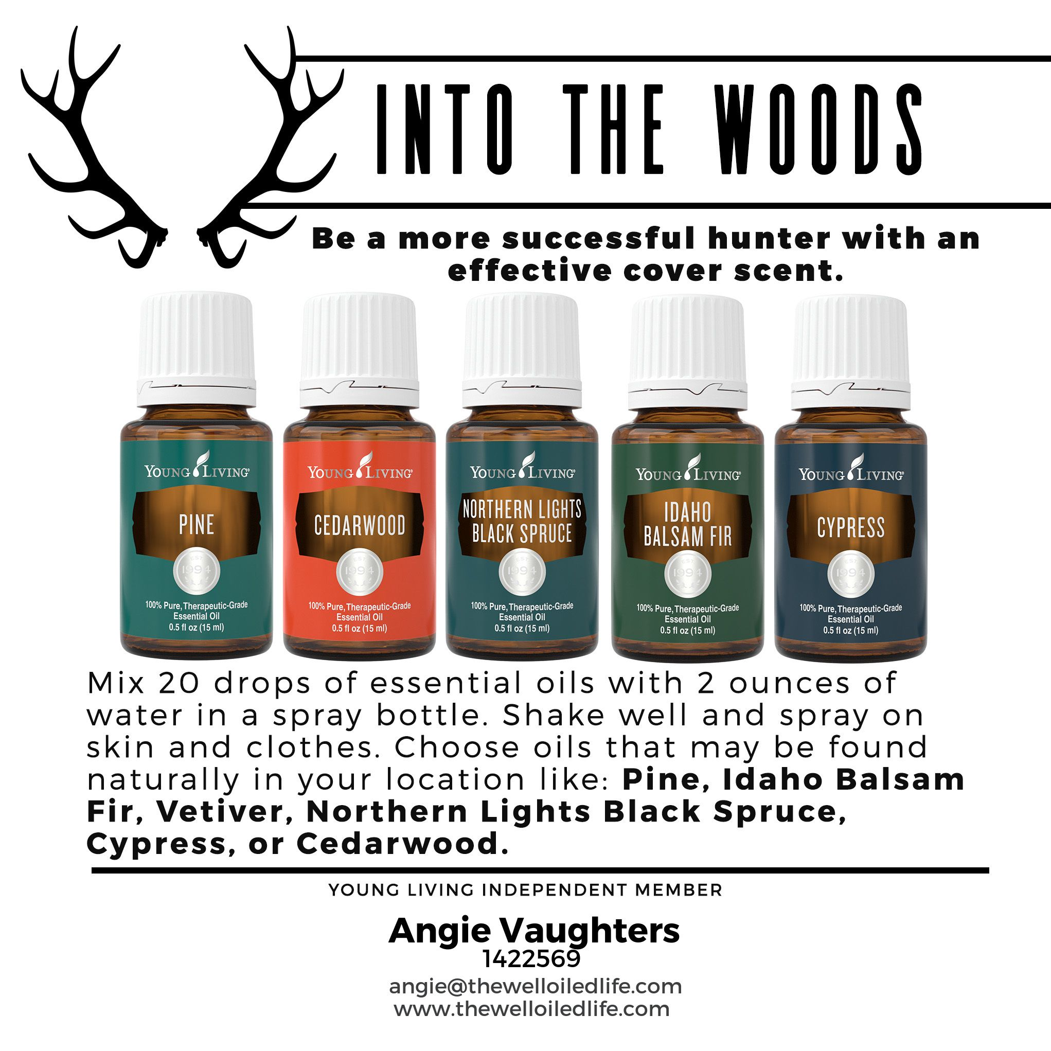 Essential Oils for Men! Have a hunter in your life?! Make him a DIY ...