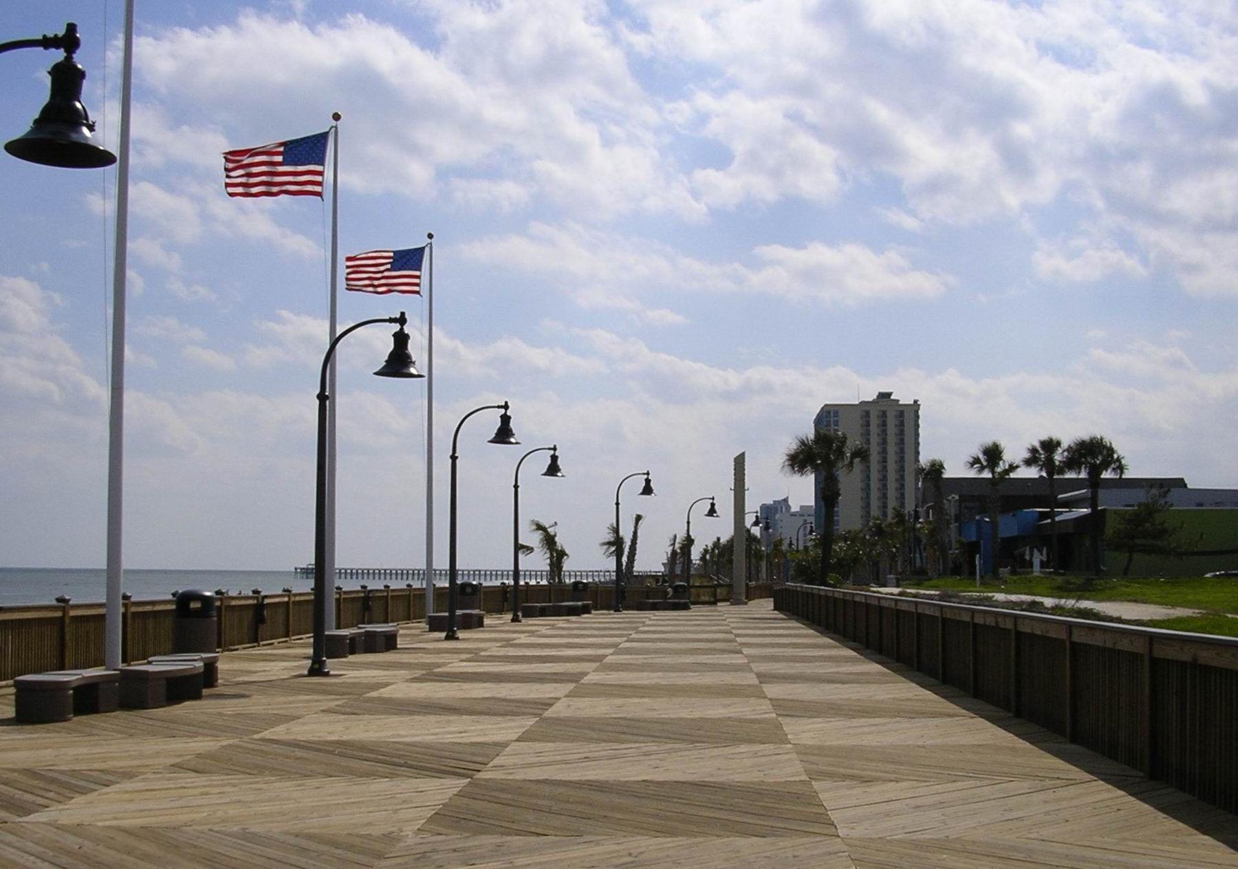 Beach Boardwalk Myrtle Promenade 4