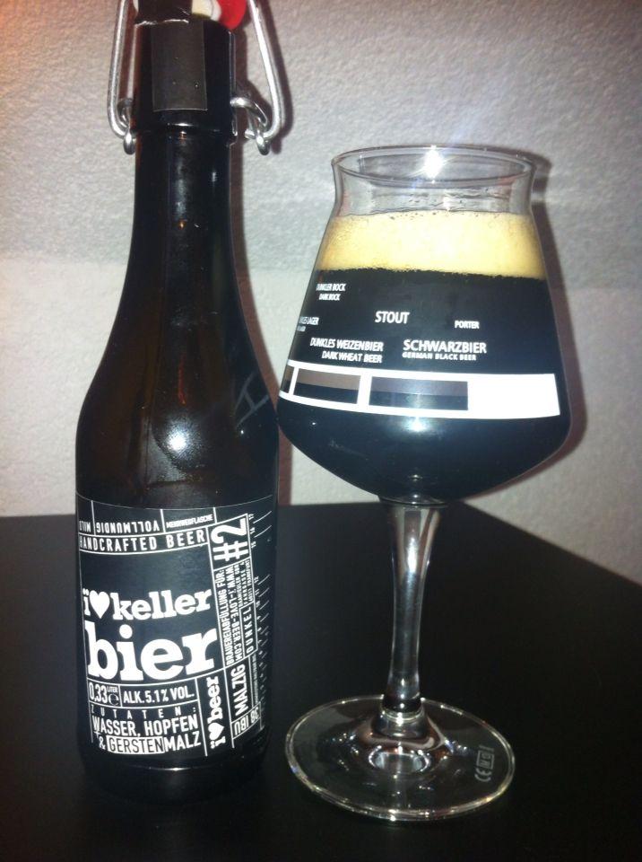I ❤️ Kellerbier, Etikett aus der Naiv bar in Frankfurt. Kellerbier aus der Hohmanns Brauerei in Fulda, Germany