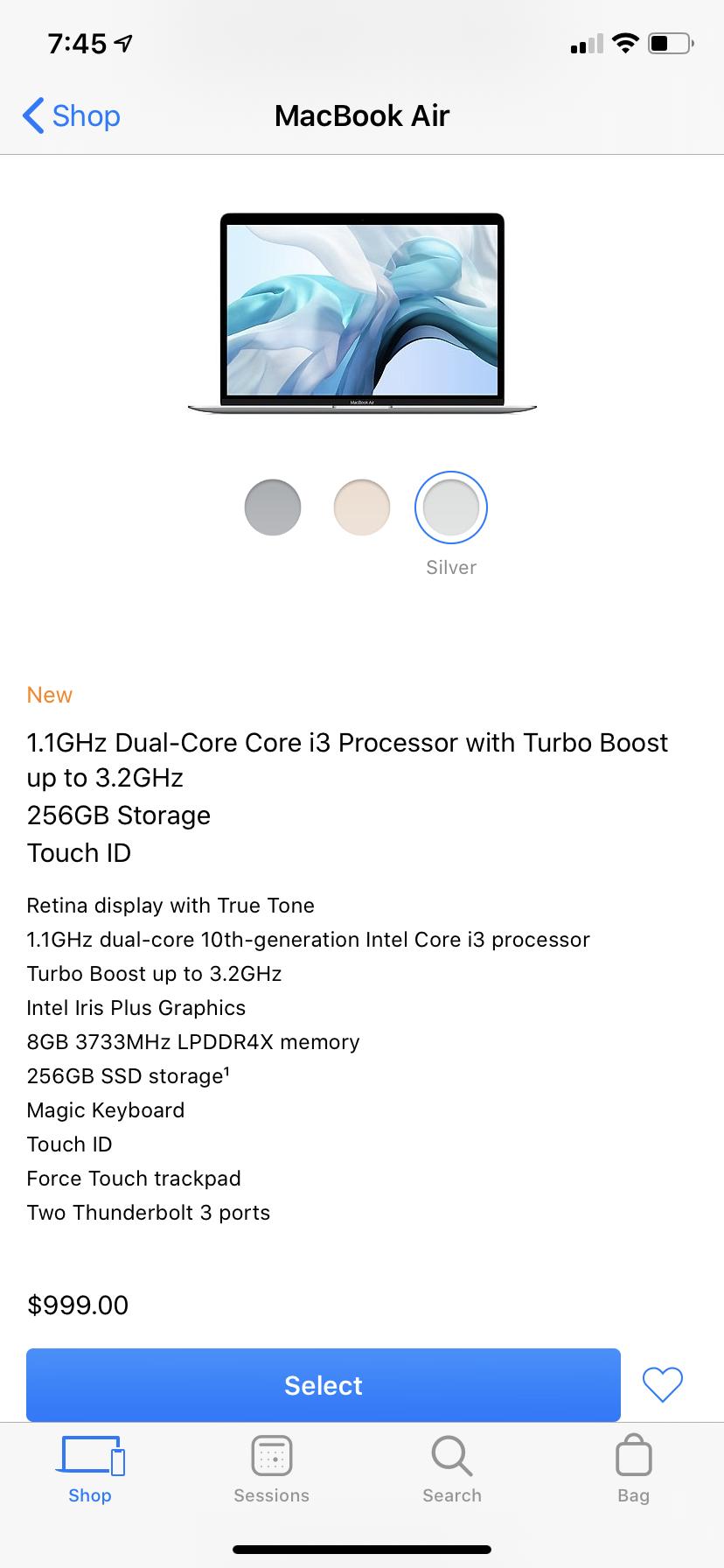 macbook air in 2020 Macbook air, Retina display, Ssd