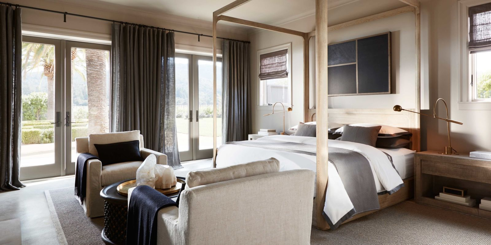 Restoration hardware bedroom - The Restoration Hardware Ceo S Napa House Is Straight Out Of A Catalog