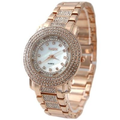 FW907A New White Dial Rose Gold Tone Band Rose Gold Tone Watchcase Fashion Watch