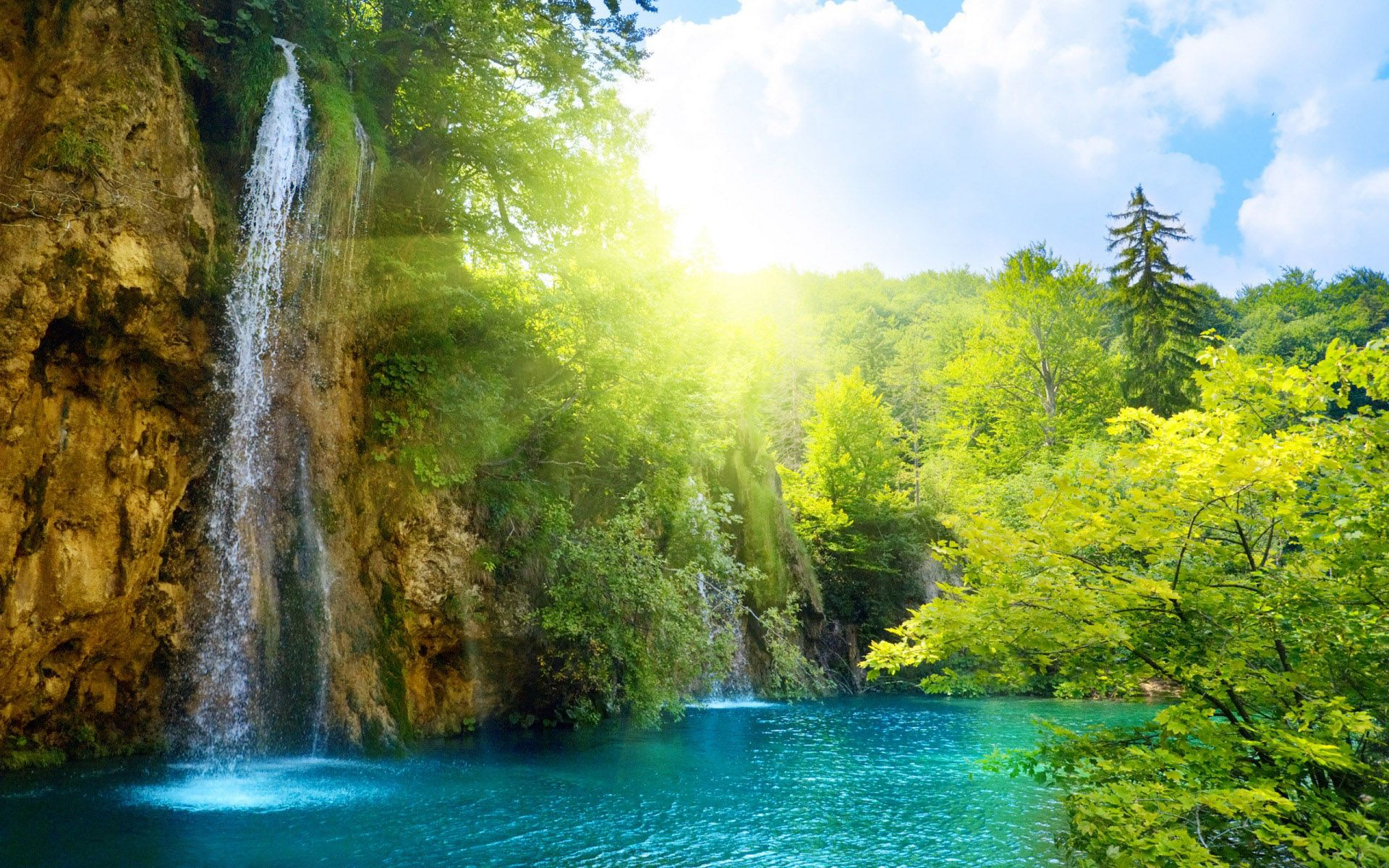 Widescreen Waterfall Nature Wallpaper Download Waterfall Wallpaper Waterfall Nature