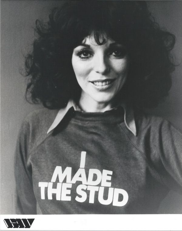 The Stud Joan Collins Wears T Shirt That Reads I Made The Stud
