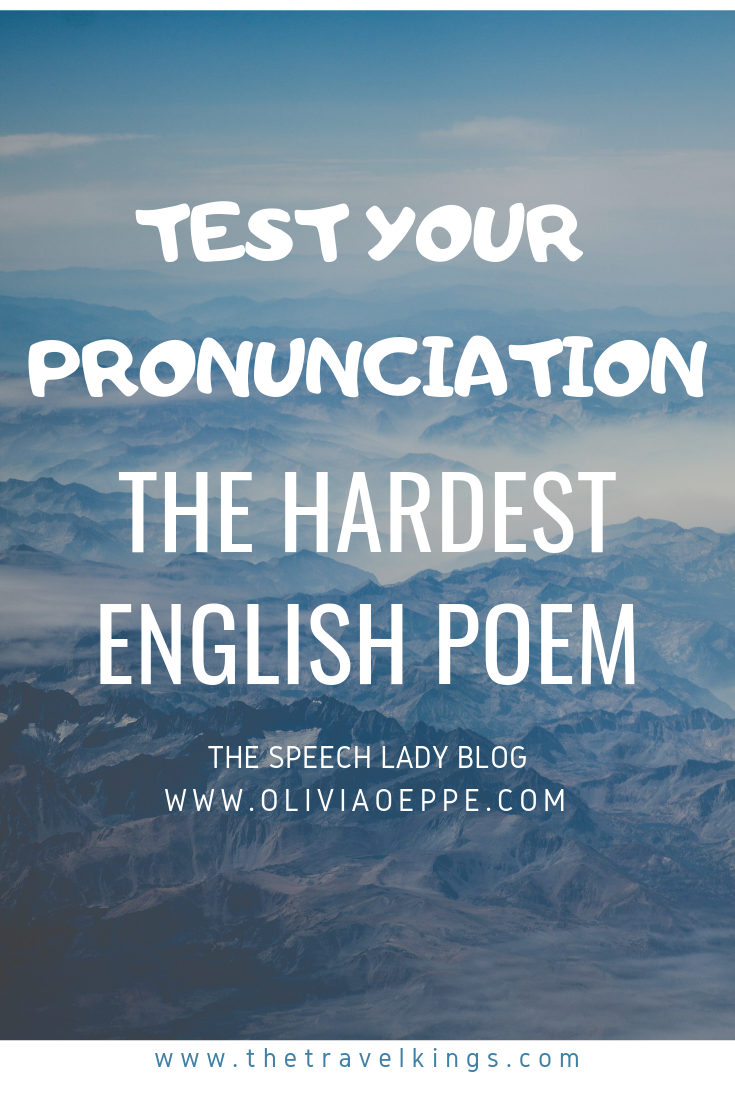 Test your English pronunciation  Rumor says that if you can