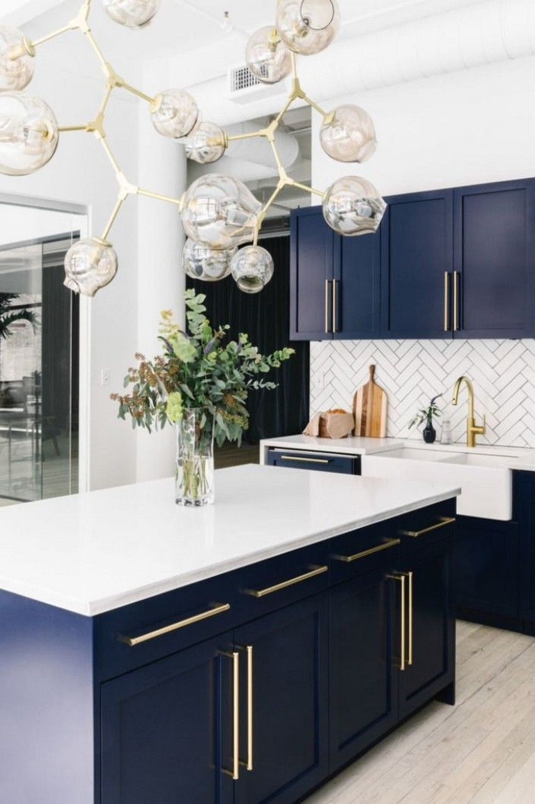 40 Beautiful Blue Kitchen Design Ideas For Fresh Kitchen Inspiration Rh  Pinterest Com