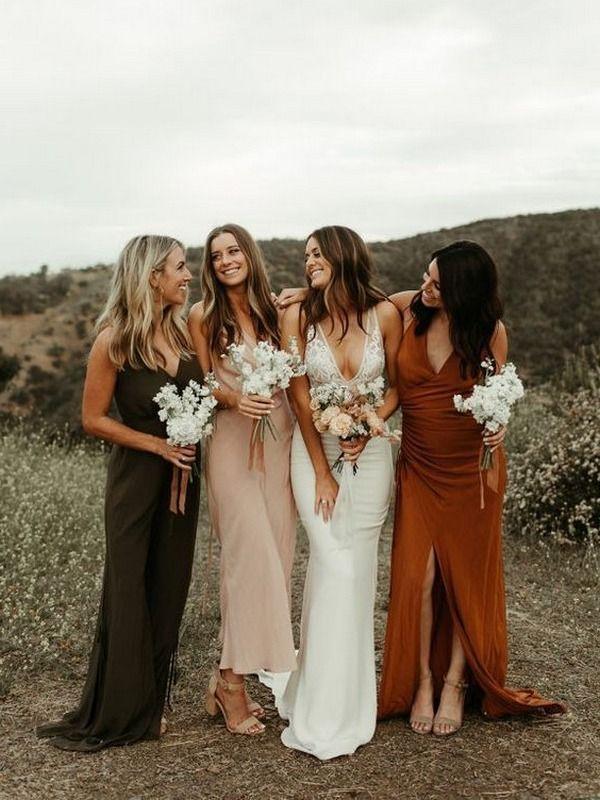 30 + Mismatched Bridesmaid Dresses Ideas