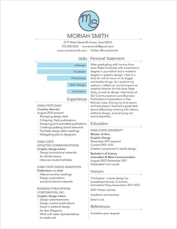 10 Interesting U0026 Simple Resume Examples You Would Love To Notice  Sample Resume Designs
