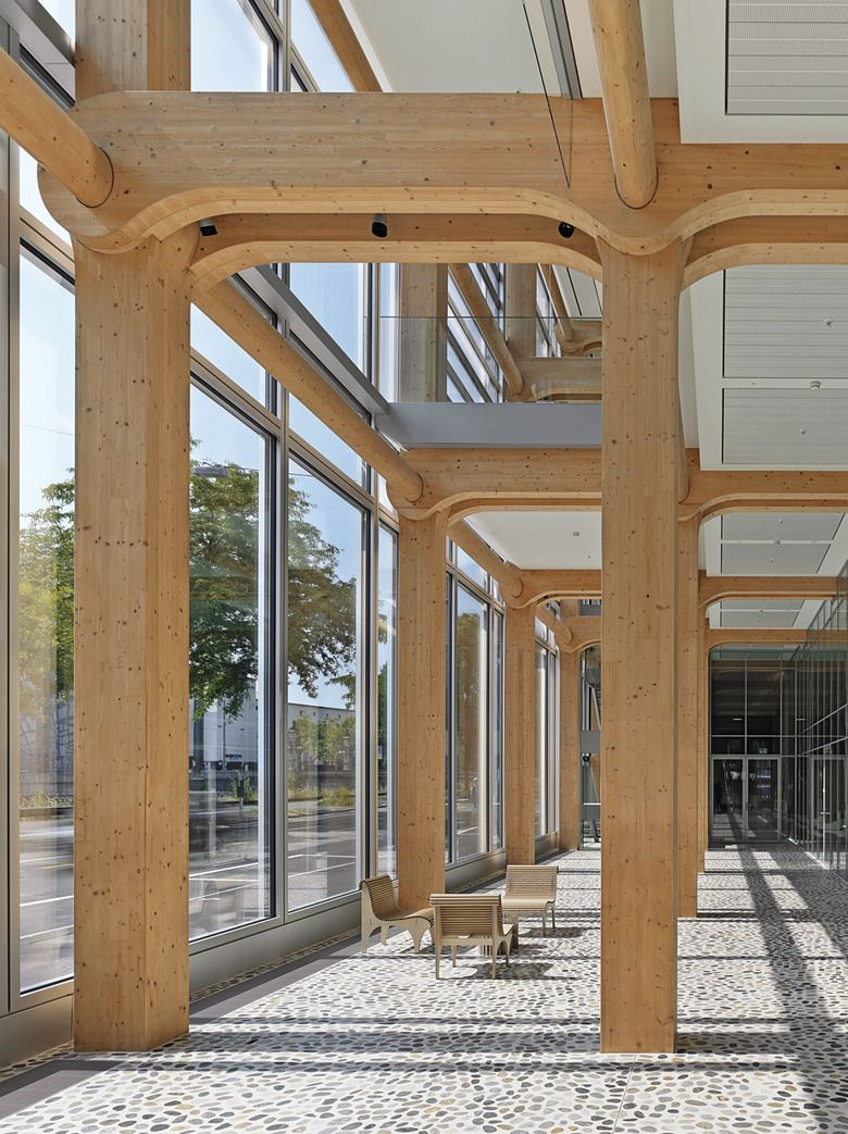 Technology: Seven Storey #Wood #OfficeBuilding in Zurich | DETAIL inspiration #ShigeruBan