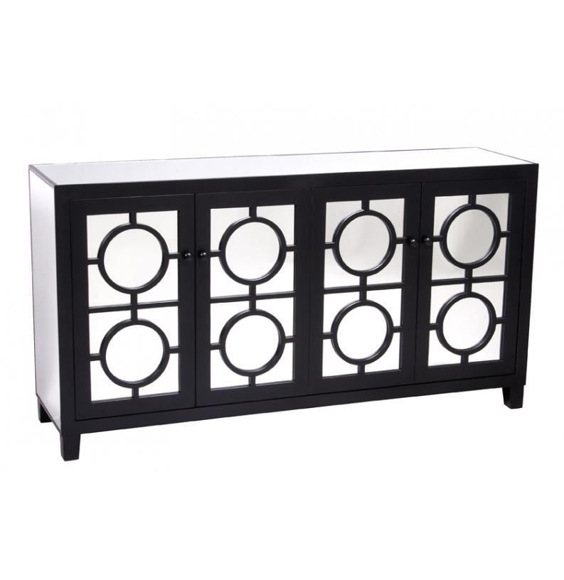 Mirrored Buffet Sideboard Or Tv Unit All Mirror Wooden 4