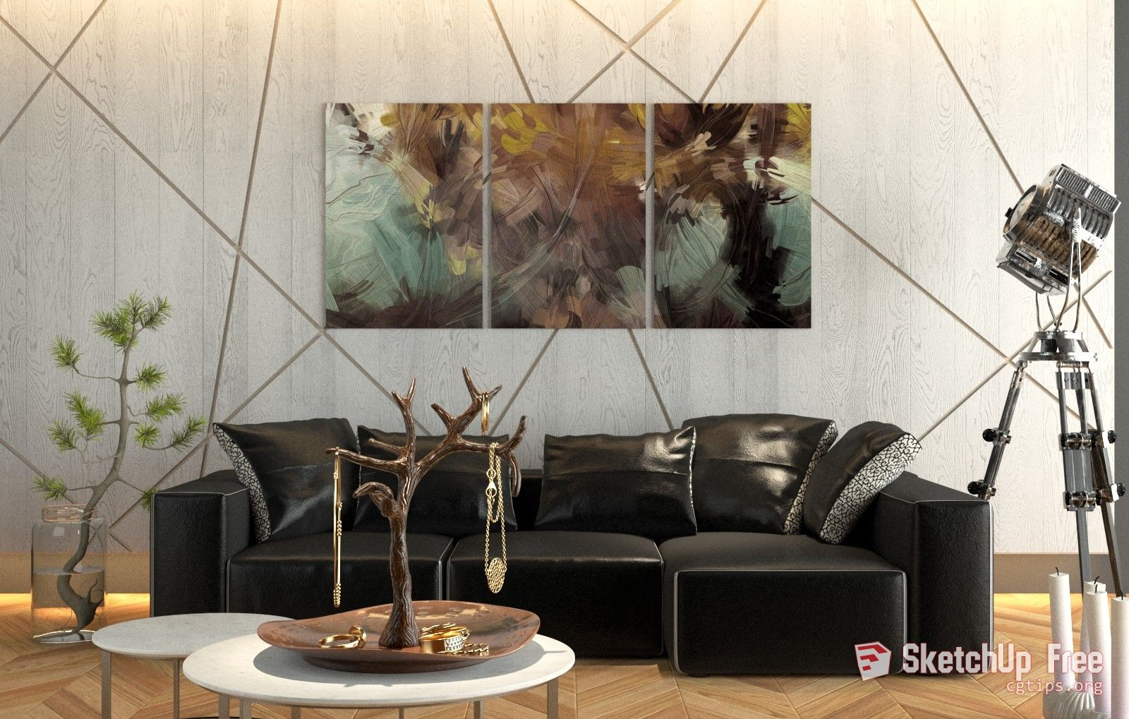 1656 Interior Livingroom Scene Sketchup Model Free Download