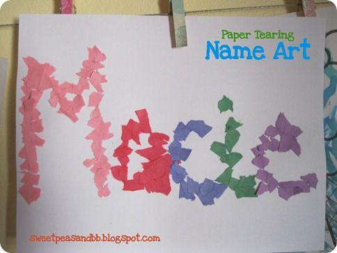 Paper Tearing name art