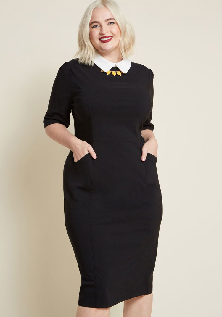 37e0d43f5fa ... Plus Size Vintage Dresses today! Collectif Make My Wednesday Sheath  Dress