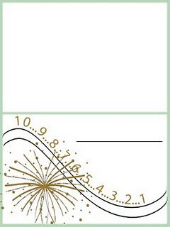 New Years Place Cards Place Card Template Download And Print