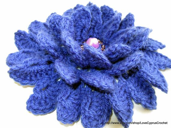 Crochet Flower PATTERN, 3d Flowers, DIY Big Flower Applique, Crochet ...