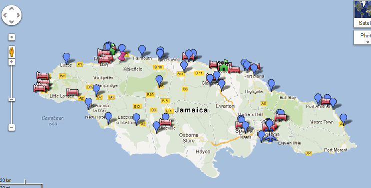 Jamaica Map In The World