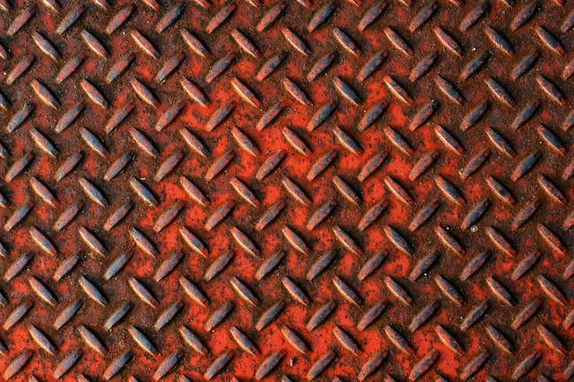 Here's a picture of the rusted painted metal gridwork effect we are going to recreate.