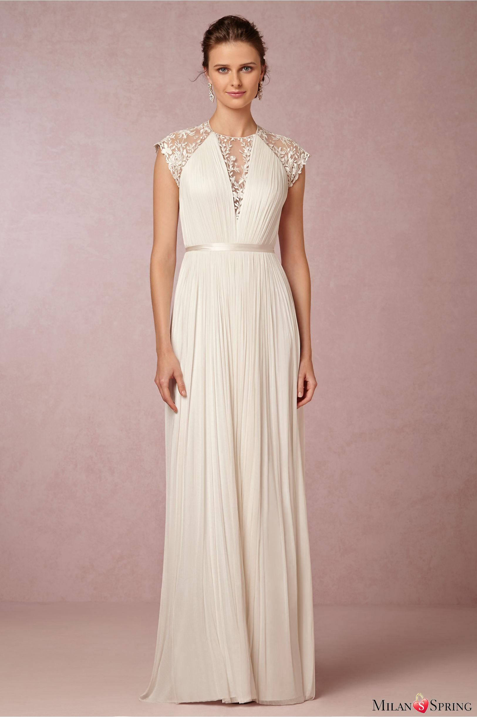 Luxury Straight Lace Up Sashes Silk Tulle Silhouette Embroidered Back Wedding Dress