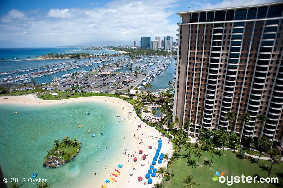 View From The Balcony At Rainbow Tower Deluxe Ocean Room Hilton Hawaiian
