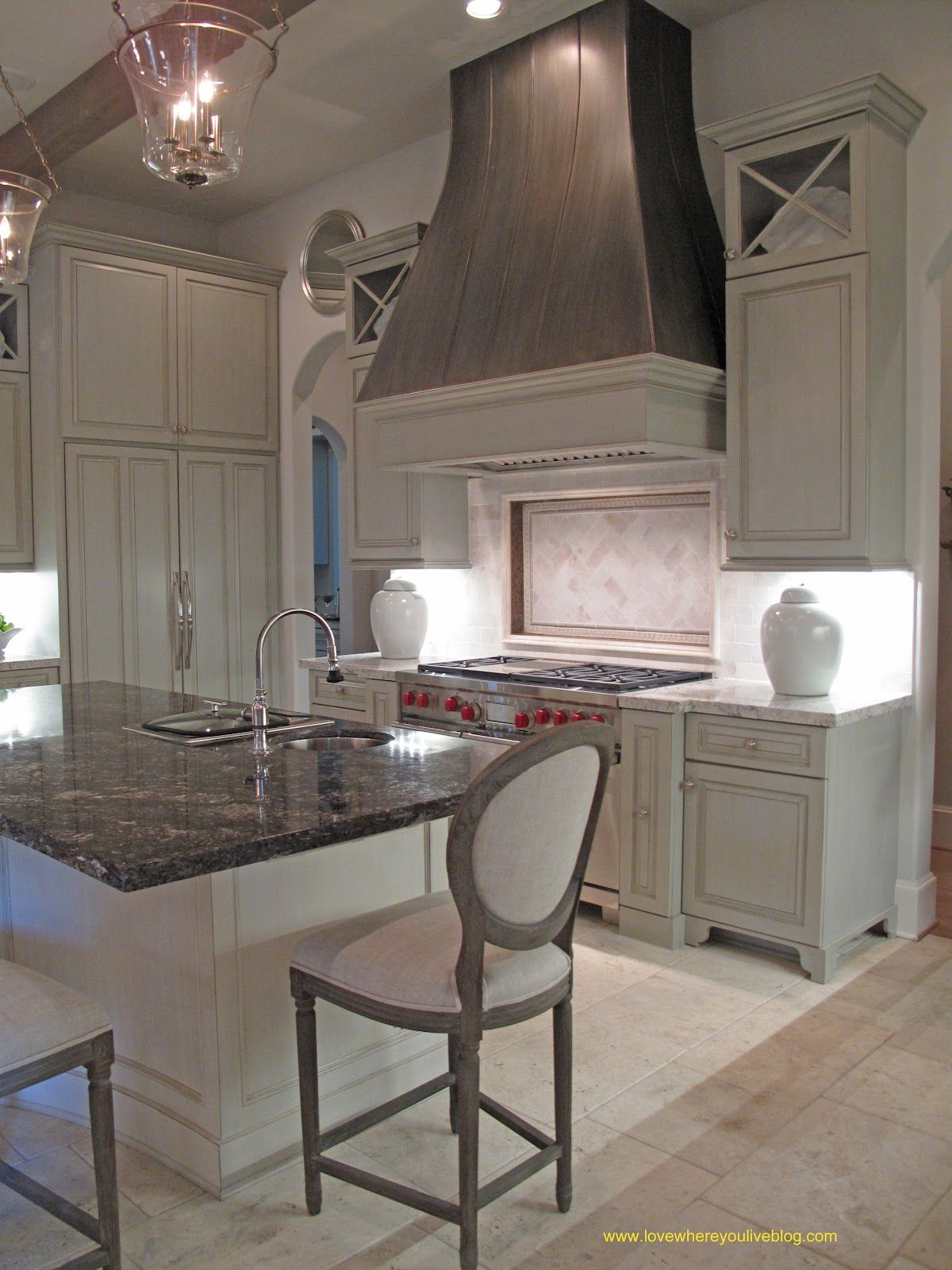 Beautiful kitchen love the hood house pinterest for Modern kitchen vent