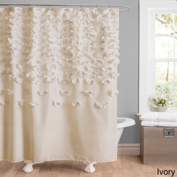 Shower In Style With This Elegant Curtain. Showcasing Silk Charmeuse  Alongside Exquisitely Handmade Floral Details, This Sophisticated Accent  Can Be Easily ...