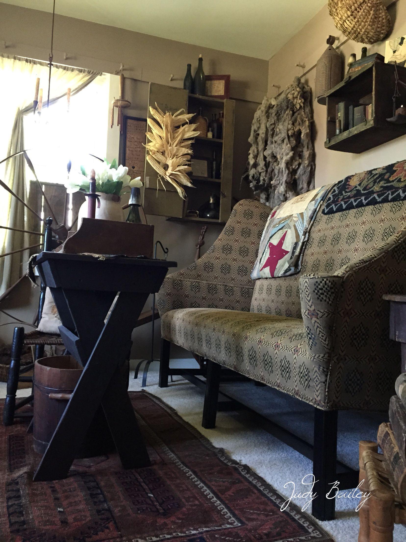 Primitive living room | Primitive living room, Small ...