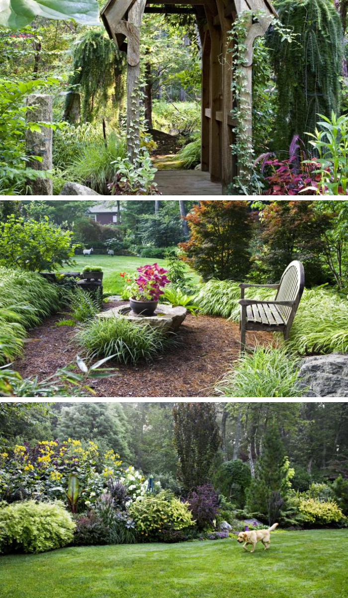 Into the Woods for a Lot Turned into Magical Garden Rooms ... on Magical Backyard Ideas id=75024
