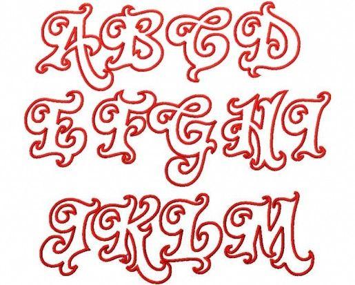Twirly Whirly Graffiti Alphabet Capital A M Letters Pinterest
