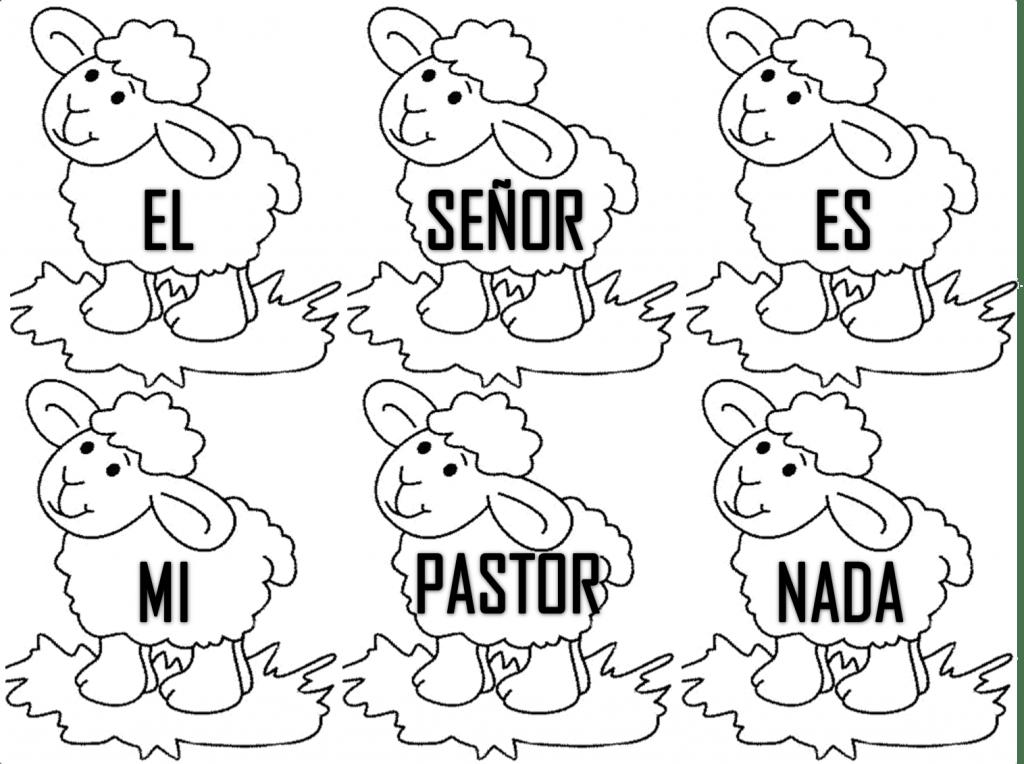 Imágenes para pintar para niños cristianos | Material para ...