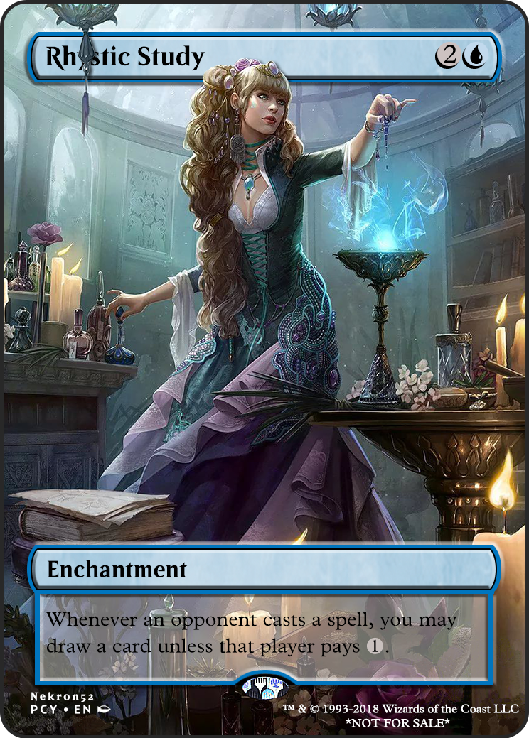 Rhystic Study (PCY MTG Card) - tappedout.net
