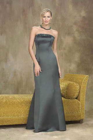Mermaid Strapless Matte Satin Bridesmaid Dresses