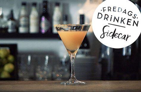 Recept på Sidecar.En klassisk drink baserad på de tre c-na: cognac, Cointreau, citronjuice. Drinken sägs vara skapad på Harry's Bar i Paris där en fransk major drack så rikliga mängder att han fick köras hem i motorcykelns sidovagn. Lika enkel som den är god!