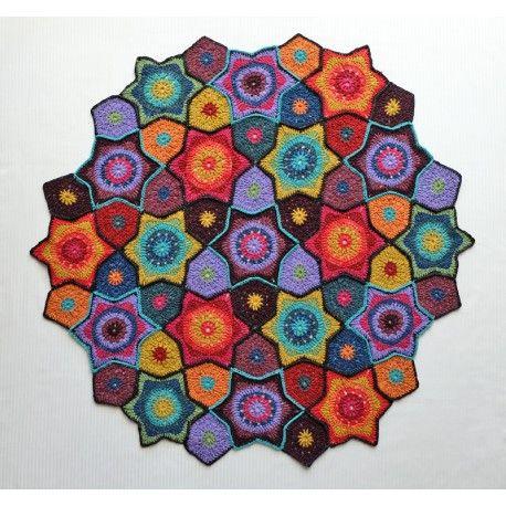 Jewelled Star Blanket Pattern Rowan Tweed And Crochet