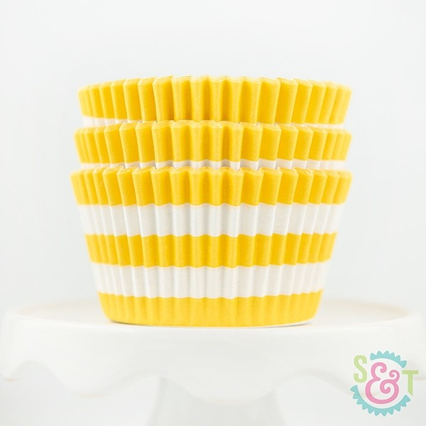 Rugby Stripe Cupcake Liners Yellow Yellow Cupcakes Baking Cups