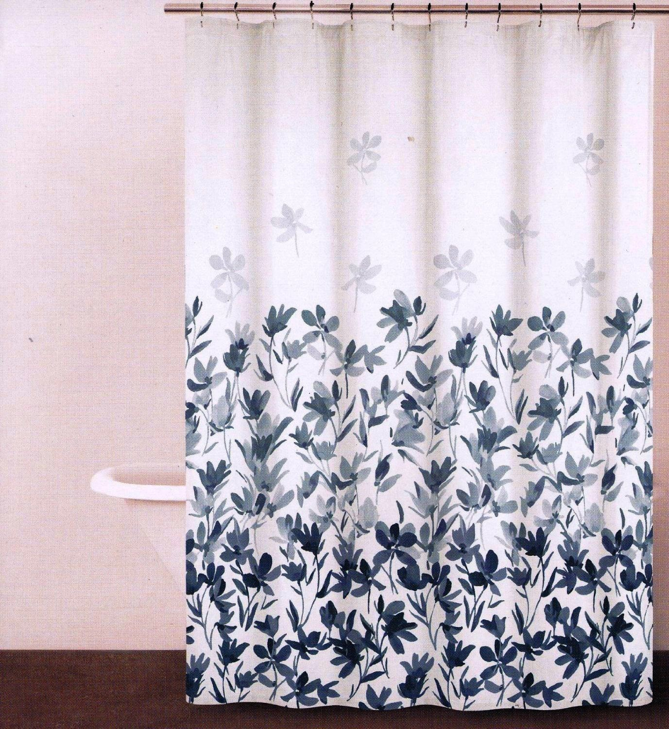 Dkny Garden Splash Periwinkle Blue White Floral Fabric Shower Curtain From Amazon Http Www Amazon Com Gp